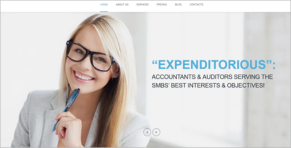 Business Research Analyst WordPress Template