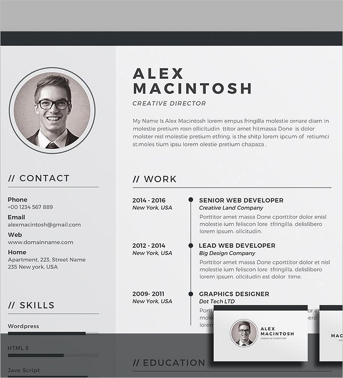 Business Resume Design Template