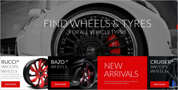 Car Wheels Accessories WooCommerce Template