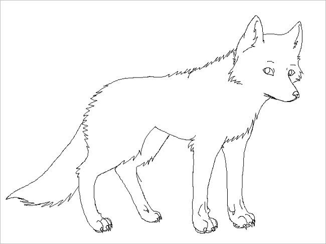 Cartoon Image Fox Template Design