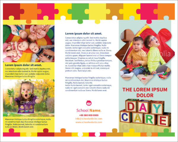 15 kindergarten brochure templates free pdf designs for Child care brochure template free