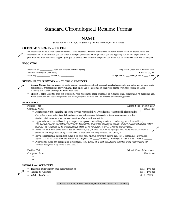 Chronological-Resume-Template-Download