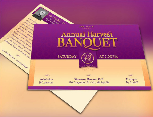 Church Party Invitation Ticket Template