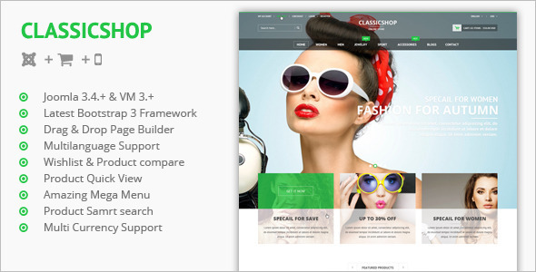 Classic Shop Joomla Virtuemart Theme