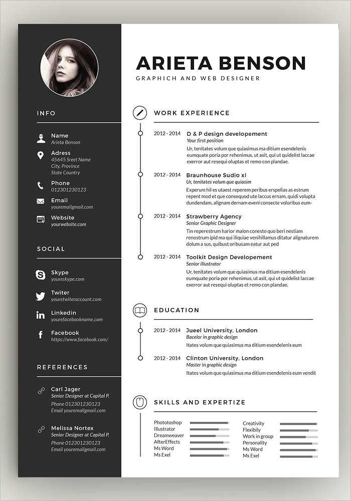 Clean Resume Design Template
