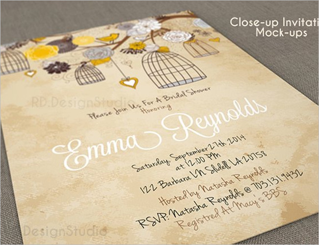 Close Up Cover Invitation Template