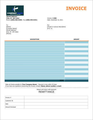 Colorful-free-invoice-with-remittance-slip