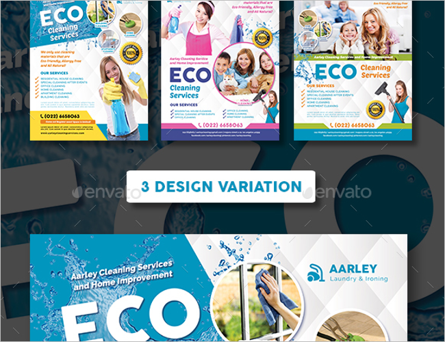Commercial Cleaning Services Flyer Designs