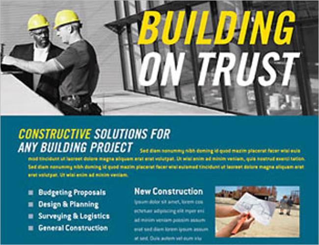 Construction Business Flyer Designs