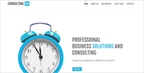 Consulting Mobile Website Template