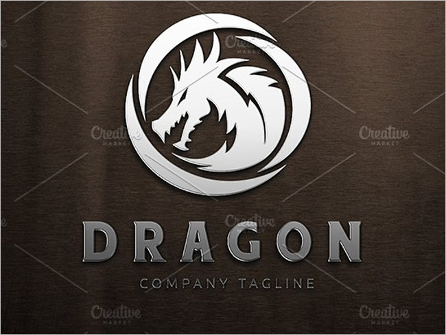 Dragon Logo Natural Template
