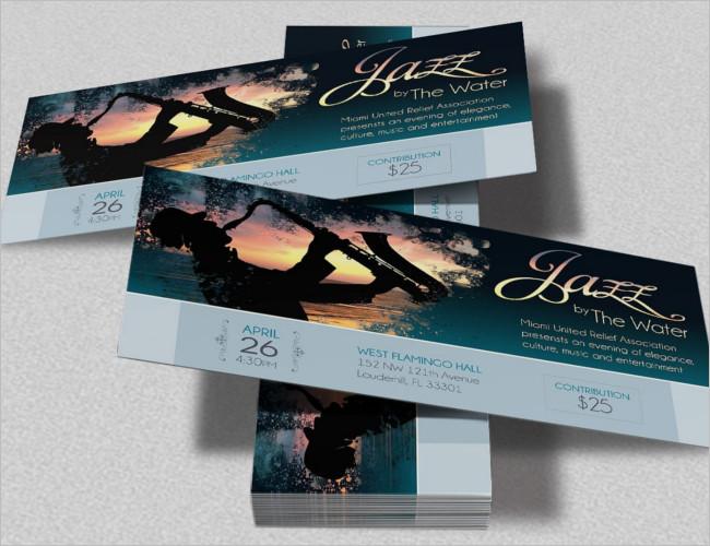 Creative Concert Event Ticket Template