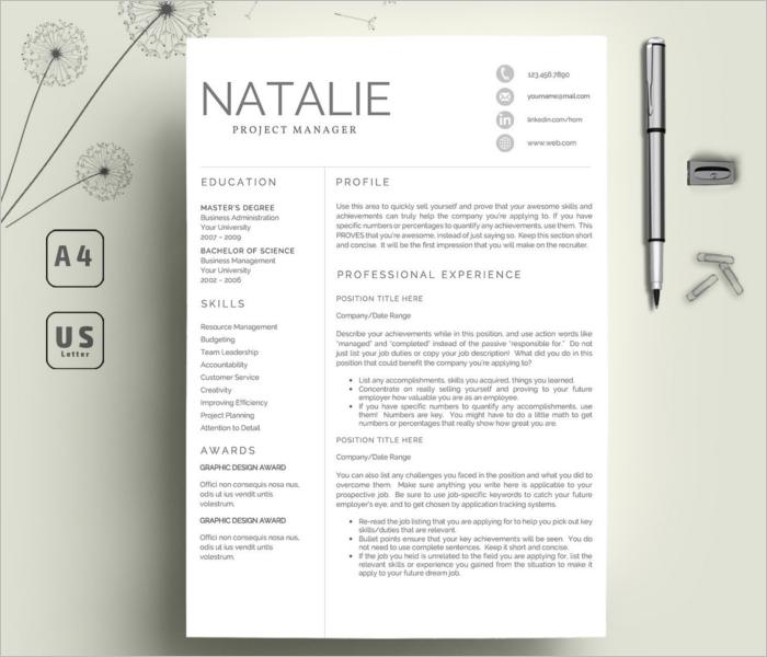 Creative Resume Model Template