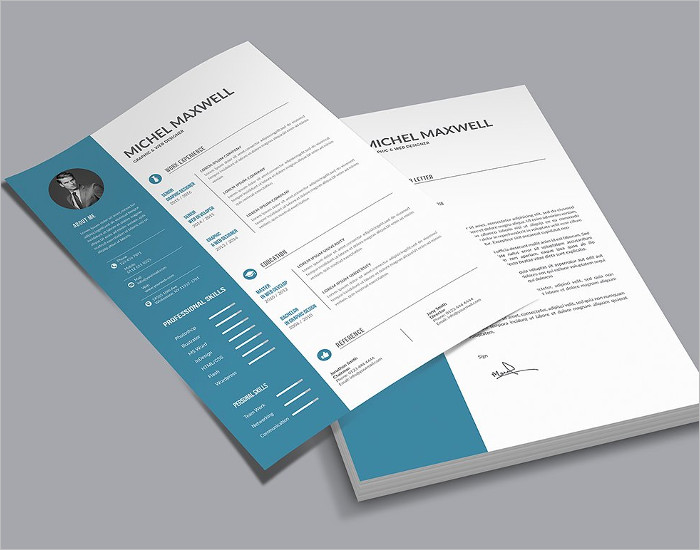 Creative Resume PSD Template