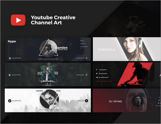Creative Youtube Cover Banner template