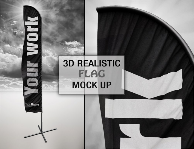 Cuntry Flag PSD Mockup