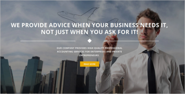 Current Accounting Website Theme