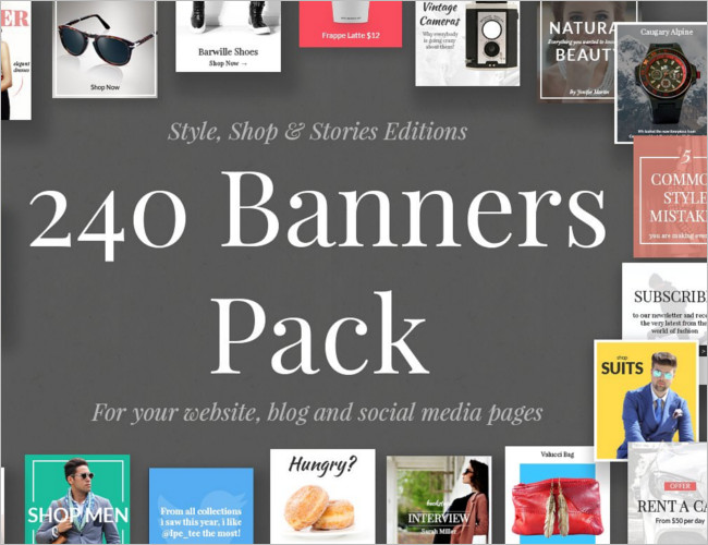 Custom Banners Pack Template