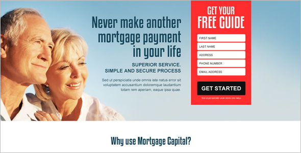 Custom Mortgage Landing Page