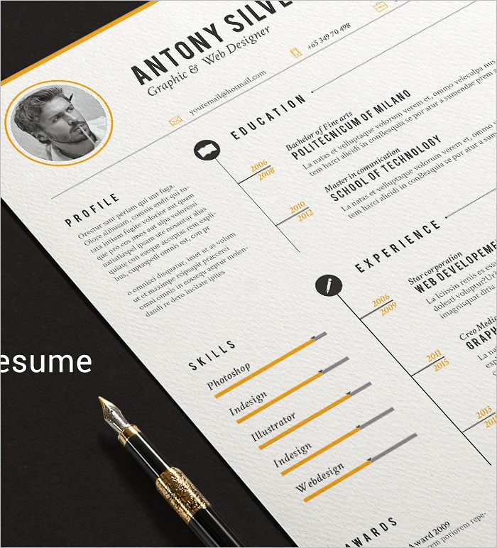 21 resume design templates free psd word designs creative template