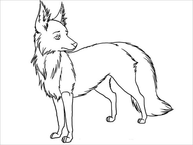 Cute Fox Template Design
