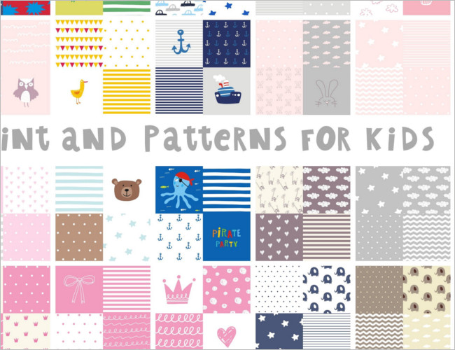 Cute pattern for baby Shower Template
