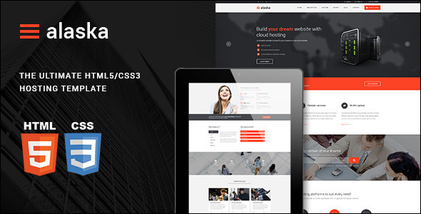 Design Hosting Responsive website Template