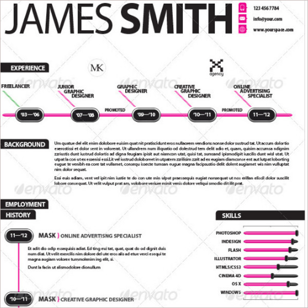 Design Infographic Resume Template Download