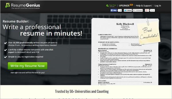 Download Resume Builder Template