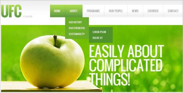 Download University Website Template