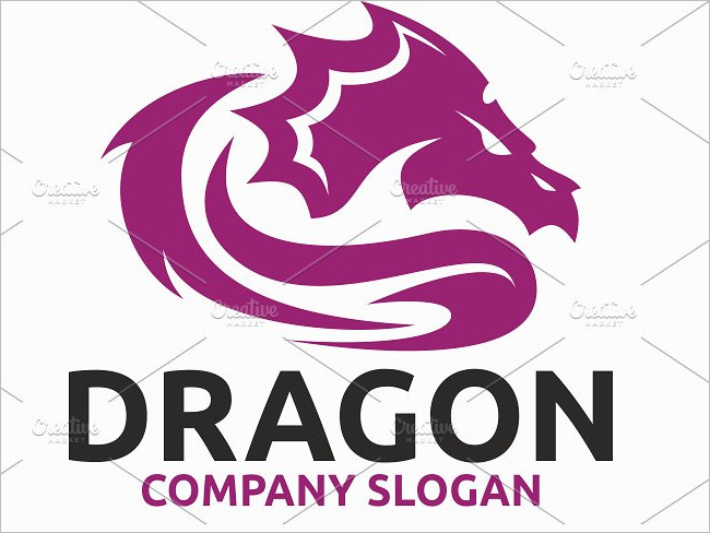 Dragon Looked Mainly Design Template