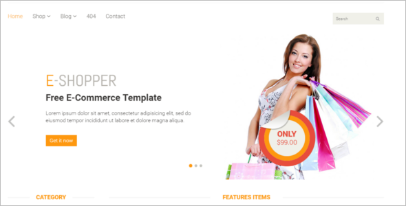 E-commerce Bootstrap Template