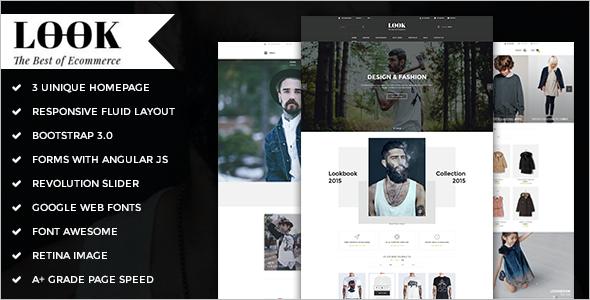 E-commerce HTML5 Website Template