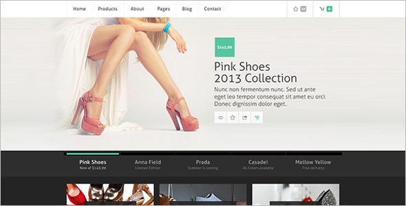 E-commerce PSD Website Model Template