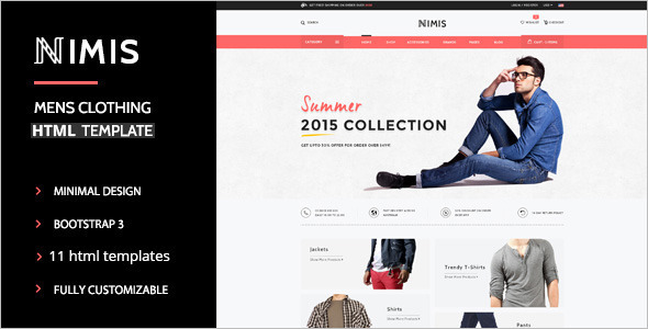 E-commerce Store Website Template