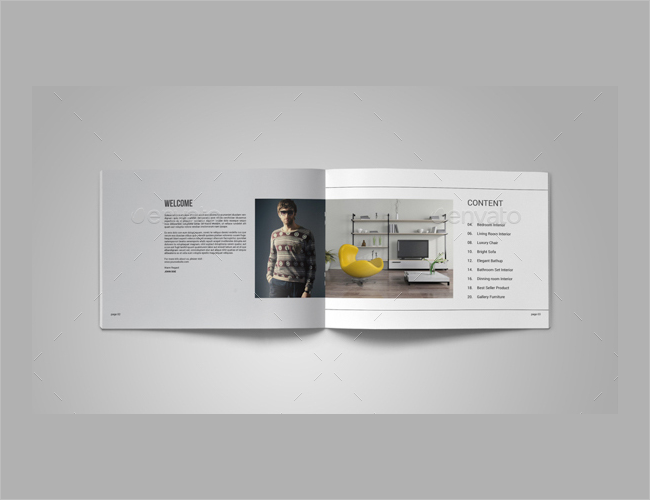 Editable Interior Decoration Brochure
