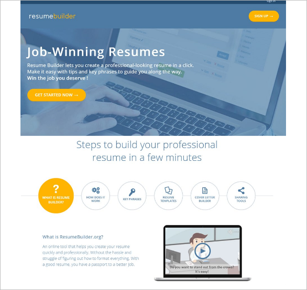 Editable Resume Builder Template