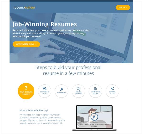 Editable Resume Builder Template