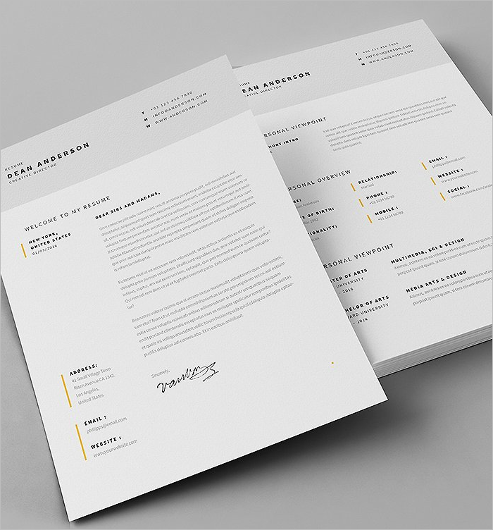 Editable Resume Design Template