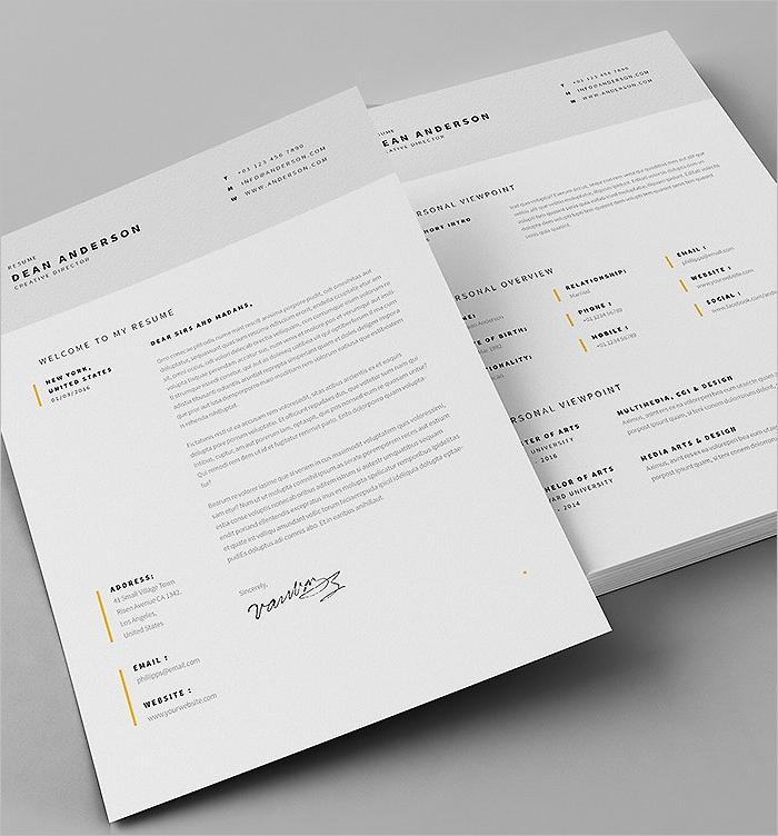 21 resume design templates free psd word designs