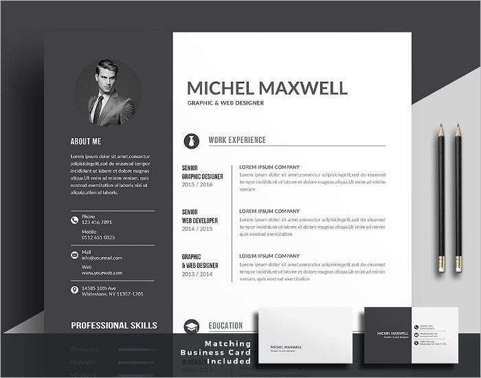 Editable Resume PSD Template