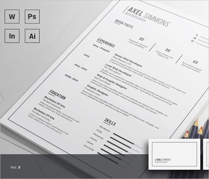 Editable Vreative Resume Template