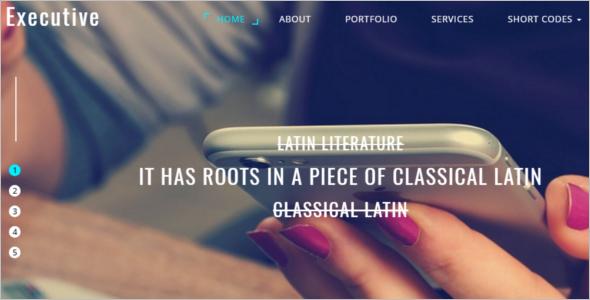 Elegant Html 5 Website Template