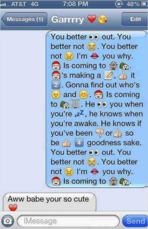 Emoji Texts Love Story