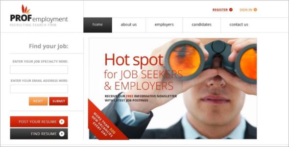 Employment Board Joomla Template