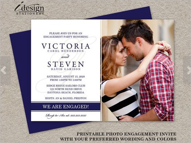 Engagement Party Invitation Card Sample