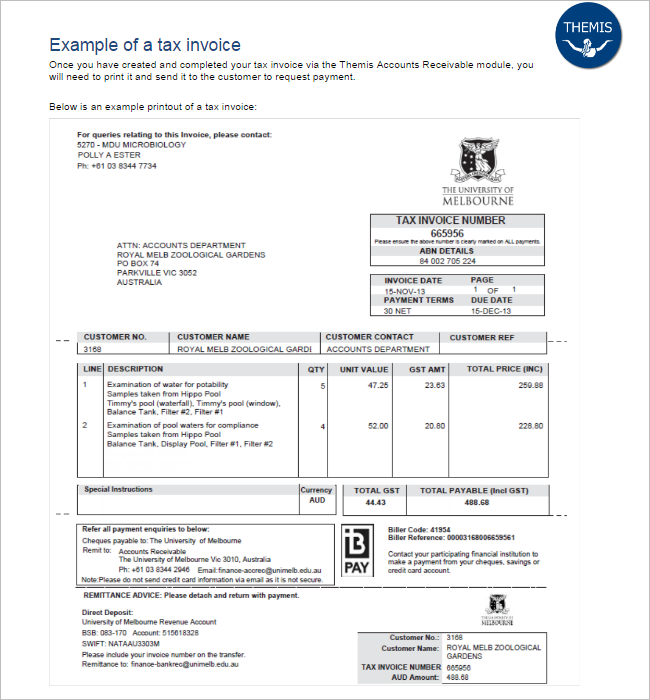 Example Tax Invoice Template