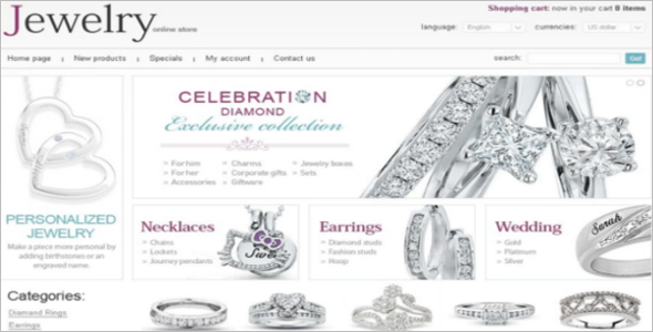 Fantastic Jewelry OsCommerce Template