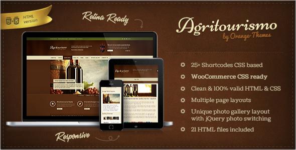 Fashion Restaurant Website Theme