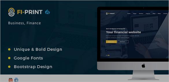 Finance Account Corporate Drupal Theme